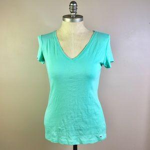 Vinyards Vines Mint Green V-neck T-shirt M